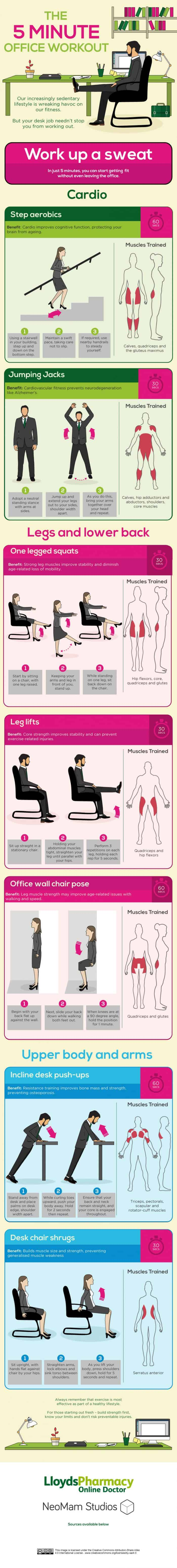 5 Minute Workout Infographic