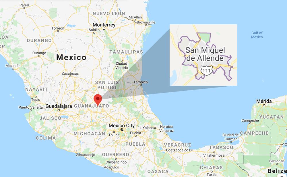 San Miguel de Allende map